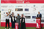 Thomas Bjorn (DEN) receives the trophy after the final round of the Commercialbank Qatar Masters presented by Dolphin Energy played at Doha Golf Club, Doha, Qatar on 4th February 2011..Picture: Phil Inglis / www.golffile.ie.