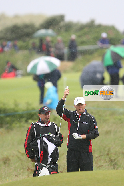 Michael Hoey (NIR) on the 1st on Day 3 of the 2012 Irish Open at Royal Portrush Golf Club, Portrush, Co.Antrim, 30/6/12...(Photo Jenny Matthews/www.golffile.ie)