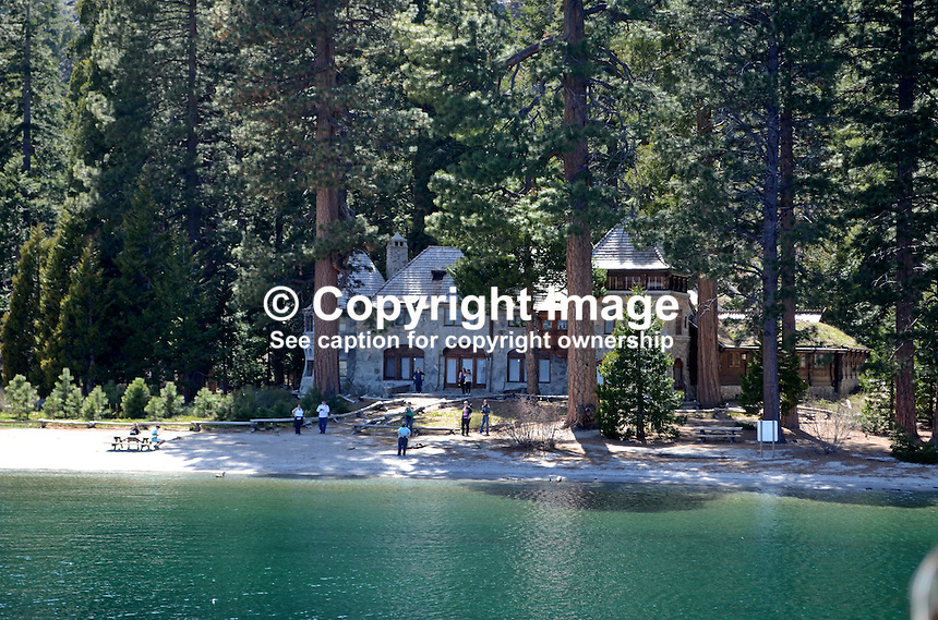 Vikingsholm, Emerald Bay, Lake Tahoe, California, USA, believed to be the finest example of  Scandinavian architecture in the Western Hemisphere. It was built as a summer home by Mrs. Lora Josephine Knight in 1929. 201304261869<br /> <br /> Copyright Image from Victor Patterson, 54 Dorchester Park, Belfast, UK, BT9 6RJ<br /> <br /> Tel: +44 28 9066 1296<br /> Mob: +44 7802 353836<br /> Voicemail +44 20 8816 7153<br /> Skype: victorpattersonbelfast<br /> Email: victorpatterson@me.com<br /> Email: victorpatterson@ireland.com (back-up)<br /> <br /> IMPORTANT: If you wish to use this image or any other of my images please go to www.victorpatterson.com and click on the Terms &amp; Conditions. Then contact me by email or phone with the reference number(s) of the image(s) concerned.