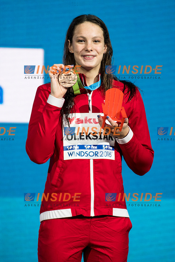 OLEKSIAK Penny CAN Bronze Medal<br /> Women's 100m Freestyle<br /> 13th Fina World Swimming Championships 25m <br /> Windsor  Dec. 8th, 2016 - Day03 Finals<br /> WFCU Centre - Windsor Ontario Canada CAN <br /> 20161208 WFCU Centre - Windsor Ontario Canada CAN <br /> Photo &copy; Giorgio Scala/Deepbluemedia/Insidefoto