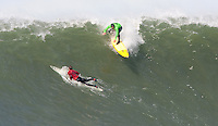 Shawn Rhodes. Mavericks Surf Contest in Half Moon Bay, California on February 13th, 2010.