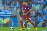 Nicolas Otamendi of Manchester City (30)  during the EPL - Premier League match between Brighton and Hove Albion and Manchester City at the American Express Community Stadium, Brighton and Hove, England on 12 August 2017. Photo by Edward Thomas / PRiME Media Images.