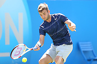 Daniel Evans (Great Britain) during his match versus Kevin Anderson (South Africa)   - Aegon Tennis Championships - 10/06/14 - MANDATORY CREDIT: Rob Newell - Self billing applies where appropriate - 07808 022 631 - robnew1168@aol.com - NO UNPAID USE - BACS details for payment: Rob Newell A/C 11891604 Sort Code 16-60-51