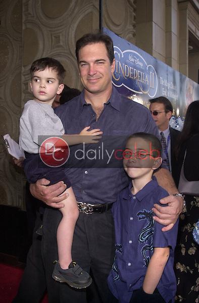 Patrick Warburton and family