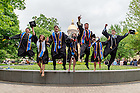 May 17, 2015; Graduates celebrate on main quad following 2015 Commencement. (Photo by Matt Cashore/University of Notre Dame)