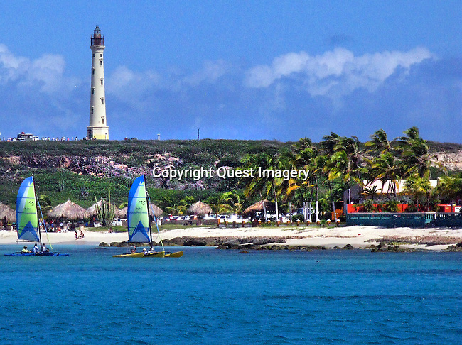Aruba is an island of the Lesser Antilles in the southern Caribbean Sea, located about 17 north of the Venezualan coast. It is part of Dutch Antilles and is best known for its pristine beaches, crystal clear water and spectacular snorkeling and SCUBA diving.<br /> Photo by Deirdre Hamill/Quest Imagery