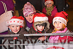 Pictured at the Santa parade in Killarney on Friday from left Darragh Helen and Donnchadh Foley and Naialia Gunia.