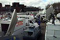 Archive Picture. Media parked at Block B Castle Buildings, Stormont, Belfast, Northern Ireland, April, 1998. Photo/Paul McErlane