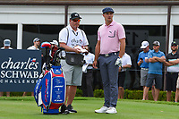 Bryson DeChambeau (USA) looks over his tee shot on 17 during round 1 of the 2019 Charles Schwab Challenge, Colonial Country Club, Ft. Worth, Texas,  USA. 5/23/2019.<br /> Picture: Golffile | Ken Murray<br /> <br /> All photo usage must carry mandatory copyright credit (© Golffile | Ken Murray)