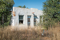 An abandoned building on Route 66 in Mariarty New Mexico.