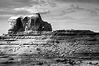 Hike through Squaw and Lost Canyons to Peekaboo Spring in Needles Canyonlands, Utah (Black & White)