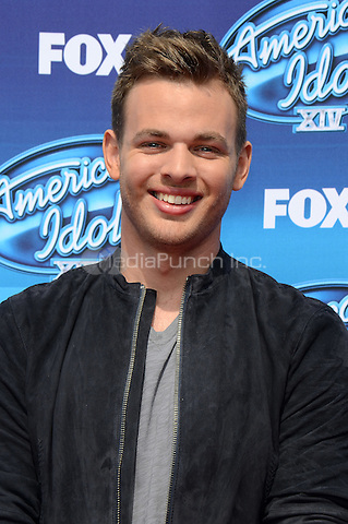 HOLLYWOOD, CA - MAY 13: Clark Beckham arriving at the 2015 American Idol Season 14 Finale at the Dolby Theatre on May 13, 2015 in Hollywood, California. Credit: PGTW/MediaPunch