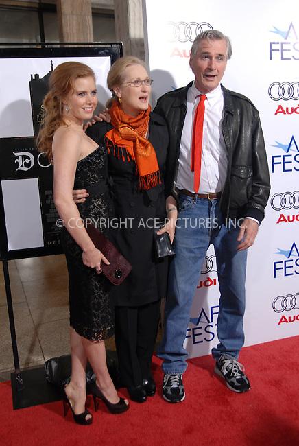 WWW.ACEPIXS.COM . . . . .  ....October 30, 2008. Los Angeles, CA....Actresses Amy Adams, Meryl Streep, director John Patrick Shanley attend AFI Fest's Premiere 'Doubt' held at ArcLight Hollywood on October 30, 2008 in Los Angeles, CA......Please byline: Joe West- ACEPIXS.COM.... *** ***..Ace Pictures, Inc:  ..Philip Vaughan (646) 769 0430..e-mail: info@acepixs.com..web: http://www.acepixs.com