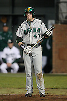 February 20, 2010:  First Baseman Kevin Quaranto (47) of the Siena Saints during the season opener at Melching Field at Conrad Park in DeLand, FL.  Siena defeated Stetson by the score of 8-4.  Photo By Mike Janes/Four Seam Images