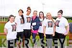 Running in Memory of Ashling Thompson and Pat Coel l-r Amy Kennelly, Helena Barrett, Sara McGee, Marissa Locke, Jade Burke, Stacey Donovan, Desiree O'Sullivan at the Home to Rome 5k Fun Run at Castleisland Rugby club on Sunday