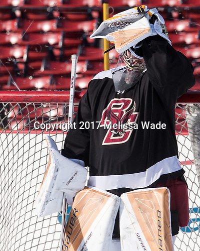 Gabri Switaj (BC - 32) - The Boston College Eagles practiced at Fenway on Monday, January 9, 2017, in Boston, Massachusetts.Gabri Switaj (BC - 32) - The Boston College Eagles practiced at Fenway on Monday, January 9, 2017, in Boston, Massachusetts.