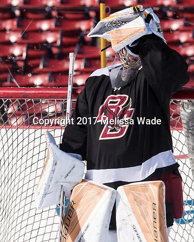 Gabri Switaj (BC - 32) - The Boston College Eagles practiced at Fenway on Monday, January 9, 2017, in Boston, Massachusetts.Gabri Switaj (BC - 32) - The Boston College Eagles practiced at Fenway on Monday, January 9, 2017, in Boston, Massachusetts.