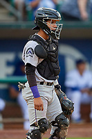 Ronaiker Palma (47) of the Grand Junction Rockies on defense against the Ogden Raptors at Lindquist Field on September 9, 2019 in Ogden, Utah. The Raptors defeated the Rockies 6-5. (Stephen Smith/Four Seam Images)