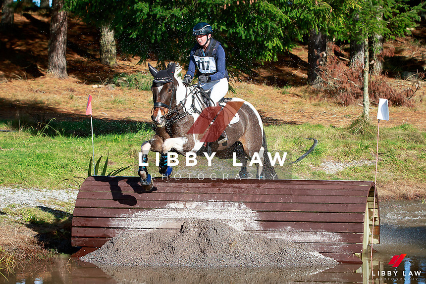 Samantha Felton rides BV Illusionist during the Fiber Fresh CCI1* Championship Cross Country at the 2017 NZL-NRM National Three Day Event Championships. National Equestrian Center, Taupo. Saturday 13 May. Copyright Photo: Libby Law Photography