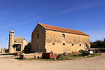 Israel, Shephelah, Old farm buildings at Latrun Monastery