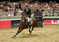 Patrice Delaveau (France), riding Carinjo HDC at the Gucci Gold Cup International Jumping competition at the 2015 Longines Masters Los Angeles at the L.A. Convention Centre.<br /> October 3, 2015  Los Angeles, CA<br /> Picture: Paul Smith / Featureflash
