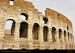 Exposed inner wall South side Colosseum Rome
