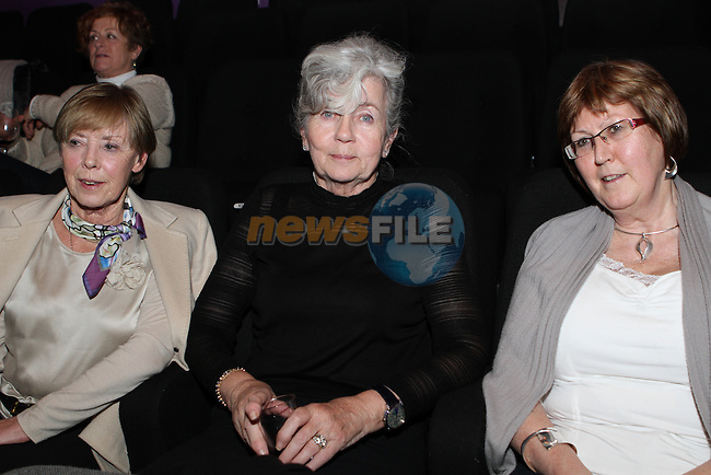 Rosemary Gardiner, Carmel Naughton and Helen McGovern at Wagner's Parsifal live from the Met in the Droichead Arts Centre...(Photo credit should read Jenny Matthews/NEWSFILE)...
