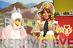 Declan Mangan, Mother Goose, and Hazel Devane, Priscilla the Goose, pictured during the Killorglin Pantomines 50th anniversary performance of Mother Goose in the CYMS Killorglin on Sunday.