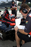 10 August 2007:  Alex Tagliania (CAN) works with his crew at the Champ Car Generac Grand Prix at Road America, Elkahart Lake, WI.