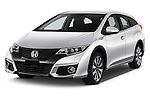 2016 Honda Civic Tourer Executive 5 Door Wagon Angular Front stock photos of front three quarter view