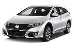 2016 Honda Civic Tourer Executive 5 Door Wagon Angular Front stock photos of front three quarter view