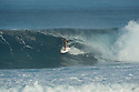 Naume Ildefonse (FRA) at Backdoor on the Northshore of Oahu in Hawaii.