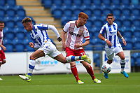 Dale Gorman of Stevenage and Sammie Szmodics of Colchester United during Colchester United vs Stevenage, Sky Bet EFL League 2 Football at the Weston Homes Community Stadium on 12th August 2017