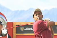 SSP Chowrasia (IND) on the 18th on the 1st day of the Omega European Masters, Crans-Sur-Sierre, Crans Montana, Switzerland..Picture: Golffile/Fran Caffrey..
