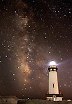 Milky Way over Pigeon Point Lighthouse in Half Moon Bay.