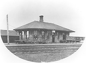 Early photograph of Antonito depot.<br /> D&amp;RG  Antonito, CO  ca. 1880-1889
