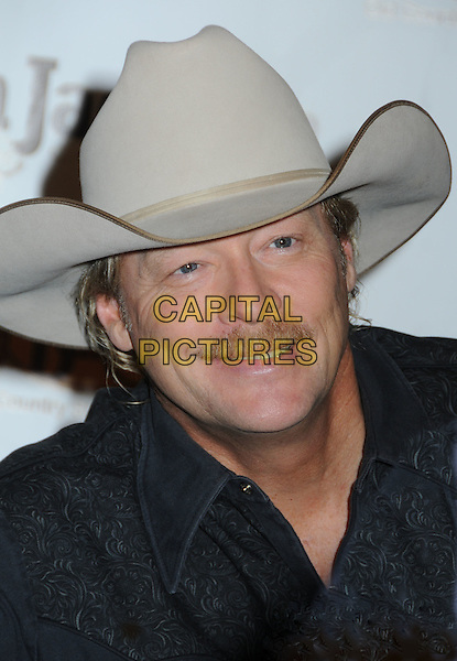 ALAN JACKSON.Alan Jackson Signs Items from the Alan Jackson Collection Exclusively at Cracker Barrel 'Pop Up' Old Country Store, Nashville, Tennessee, USA..November 10th, 2009.headshot portrait black beige stetson cowboy hat facial hair moustache mustache .CAP/ADM/LF.©Laura Farr/AdMedia/Capital Pictures.