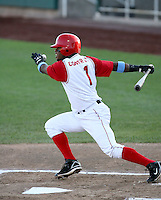 Ivan Contreras / Orem Owlz playing against the Missoula Osprey at Orem, UT - 08/11/2008..Photo by:  Bill Mitchell/Four Seam Images