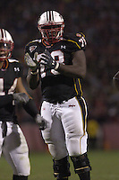 20 October 2005: Maryland tackle Jared Gaither (78)..The Virginia Tech Hokies defeated the Maryland Terrapins 28-9 at Byrd Stadium in College Park, MD.