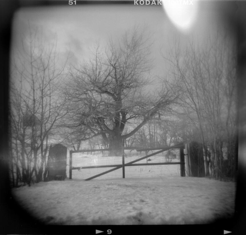A farm gate near Red Lodge, Mont.