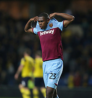 West Ham United's Issa Diop<br /> <br /> Photographer Rob Newell/CameraSport<br /> <br /> The Carabao Cup Third Round - Oxford United v West Ham United - Wednesday 25th September 2019 - Kassam Stadium - Oxford<br />  <br /> World Copyright © 2019 CameraSport. All rights reserved. 43 Linden Ave. Countesthorpe. Leicester. England. LE8 5PG - Tel: +44 (0) 116 277 4147 - admin@camerasport.com - www.camerasport.com