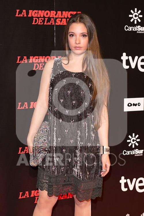 "Joana Cobo attends ""La Ignorancia de la Sangre"" Premiere at Capitol Cinema in Madrid, Spain. November 13, 2014. (ALTERPHOTOS/Carlos Dafonte)"