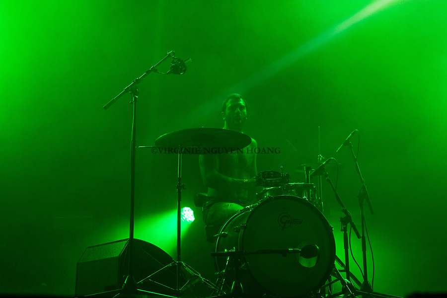 Brussels, Belgium: The Belgian group Boda Boda is performing at the Botanique for the Belgian music festival Propulse, February 2018.