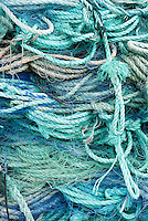 pile of ropes used for fishing