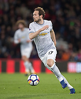 Daley Blind of Man Utd during the Premier League match between Bournemouth and Manchester United at the Goldsands Stadium, Bournemouth, England on 18 April 2018. Photo by Andy Rowland.