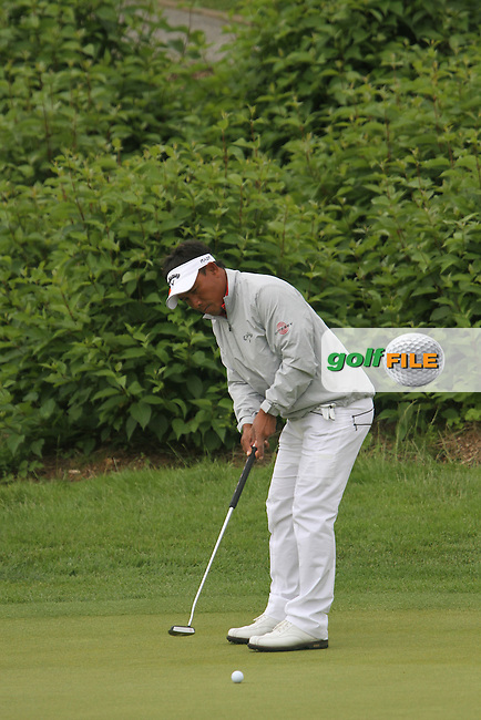 Thongchai Jaidee (THA) on the 1st on Day 4 of the Alstom Open de France at Golf National,  Saint-Quentin-En-Yvelines, Paris, France, 8/7/12...(Photo Jenny Matthews/www.golffile.ie)