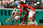Roland Garros. Paris, France. June 7th 2006..Julien Benneteau against Ivan Jubicic during the 1/4 finals.