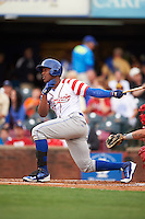 Lexington Legends outfielder Elier Hernandez (12) at bat during a game against the Hagerstown Suns on May 22, 2015 at Whitaker Bank Ballpark in Lexington, Kentucky.  Lexington defeated Hagerstown 5-1.  (Mike Janes/Four Seam Images)