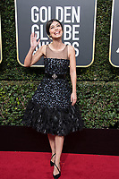 Actor Alessandra Mastronardi attends the 75th Annual Golden Globes Awards at the Beverly Hilton in Beverly Hills, CA on Sunday, January 7, 2018.<br /> *Editorial Use Only*<br /> CAP/PLF/HFPA<br /> &copy;HFPA/Capital Pictures