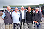 Tommy Flemming, Joe Parker, John Barry, Mike Mercer, Johnny Conway at the Official opening of the New Clubhouse at Castlegregory golf course on Saturday.